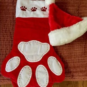 Other - ANIMAL PAW CHRISTMAS STOCKING & CHRISTMAS HAT