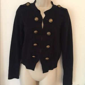 Sunny Leigh military sweater cardigan Small