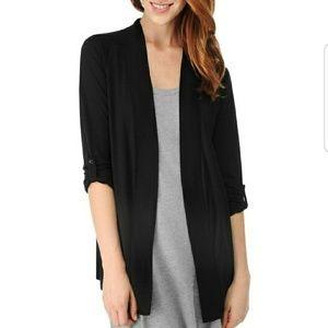 Splendid black jersey cardigan