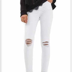 TopShop Joni White High Waisted Skinny Jeans 25