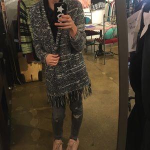 Cardigan with tassels
