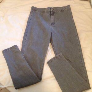Topshop Moto Joni Jeans light grey
