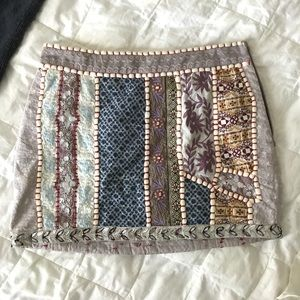 Free People Patchwork Mini Skirt