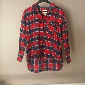 Flannel worn once.