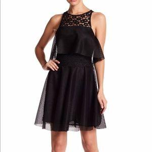 Betsey Johnson Black Mesh & Lace Dress