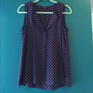 Madewell Silk Tank with Stars and Dots