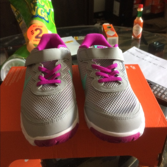 Nike Shoes - New nike girls running sneakers size 3y color gray