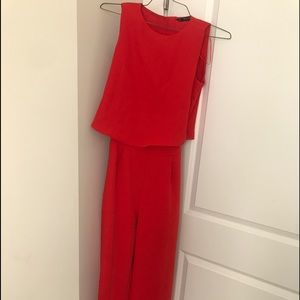 Red zara jumpsuit