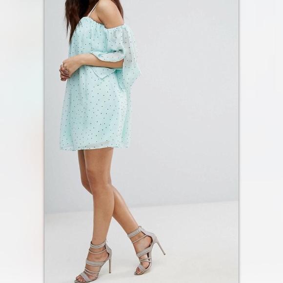 9246f95a3a06 Asos Dresses | Cold Shoulder Polka Dot Smock Dress | Poshmark