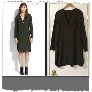 Madewell Olive Green Cargo Tunic Dress