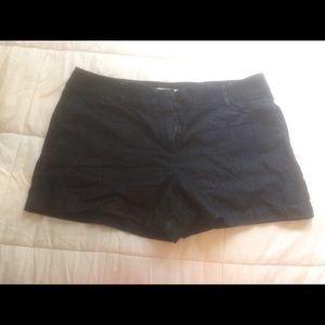 LOFT Classic Cut Dark Jean Shorts