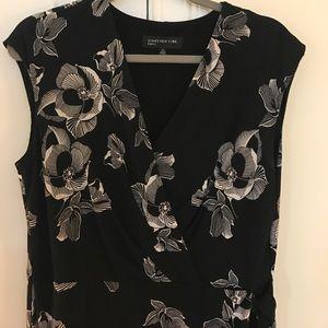 JONES New York Faux wrap dress