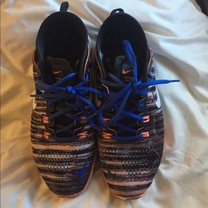 Nike Free TR Fit 4 blue and orange tiger striped