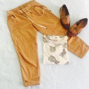 Cropped Safari Pants In Warm Tan