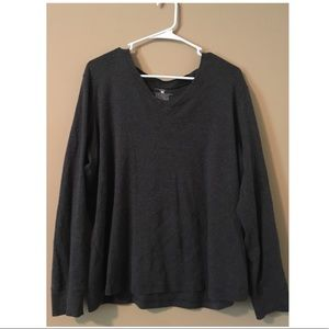 Charcoal Thin Long Sleeve Sweater