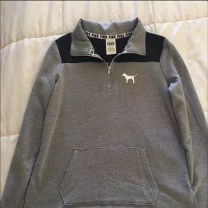 VS Pink Half Zip Pullover