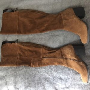 Like new leather and suede Steve Madden knee highs