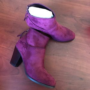 Charlotte Russe wine ankle boots