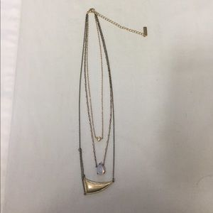Jewelmint 3 strand gold tones necklace.