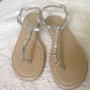 Rockport walkability silver sandals Adidas soles