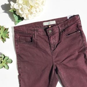 TOPSHOP Moto Leigh burgundy skinny jeans size 30