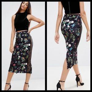 NEW | ASOS Lace Midi Skirt | Sz. 4