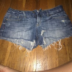 VS Pink Jean Cut Off Shorts size 4