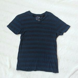 4 for $20 Men's Gray and Blue Striped Shirt