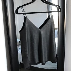 Faux leather Zara top