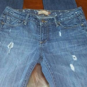 Paige naturally distressed denim jeans