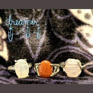 Modern Rock/Stone Rings *set of 3*