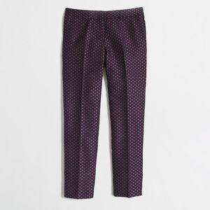 JCrew jacquard navy pants