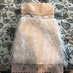 SUE WONG feather dress