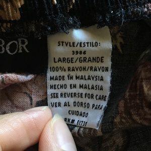 Sag Harbor Skirts - High waisted floral black skirt.