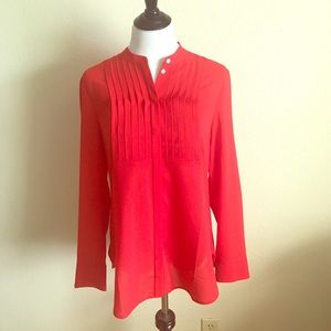 Markdown! 🔥 Red, long sleeve JCrew top ❤️