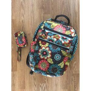 Vera Bradley backpack & wristlet.