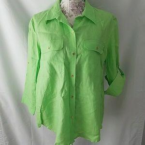Beautiful Ralph Lauren linen shirt rolled up sleev