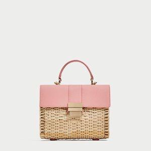 Zara pink basket bag