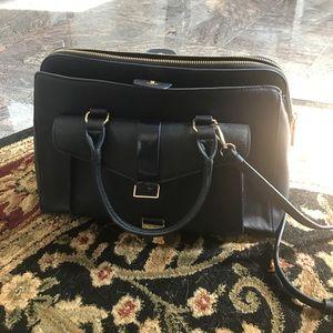 Zara Navy Work Bag