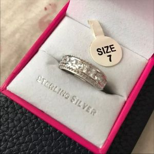 NIB DIAMOND CZ STERLING SILVER RING (7)