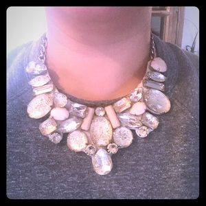 Nordstrom Cara Statement Crystal Gem Bib Necklace