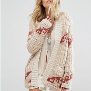 Free People Chunky Knit Open Cardigan Time & Again