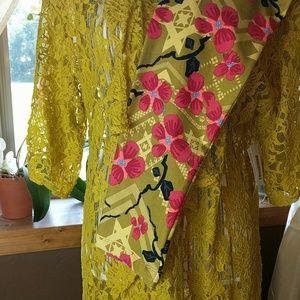 Lularoe bundle tc leggings w mustard monroe kimino
