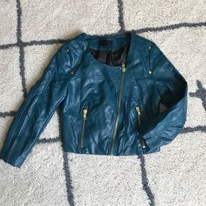 Cute Faux Leather jacket🎉