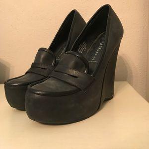 Jeffery Campbell Penny Loafer Wedge Heels