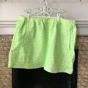 Neon Green JCrew Skirt