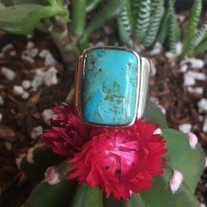 Gorgeous Studio Barse sterling and turquoise ring