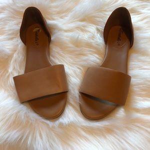Minimal Open Toe Flats
