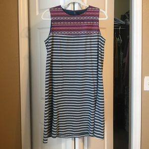 Embroidered Stripped Dress THML
