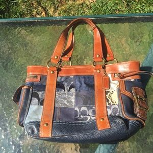 Authentic Coach Patchwork Bag-Limited Edition